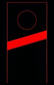 Supernatural Fin 2009, Robert Davidson (Haïda, Masset, Clan de l'Aigle), b. 1946. Acrylique sur toile, 60 x 30 po. Collection privée. © Robert Davidson. Photo: Kenji Nagai.  Site : http://nmai.si.edu/explore/exhibitions/item/?id=936