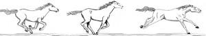 Dessin préalable des chevaux Site : http://jamesdoranwebb.com/press/143